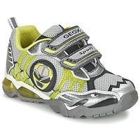 鞋子 男孩 球鞋基本款 Geox 健乐士 J SHUTTLE B. B 灰色 / 柠檬色