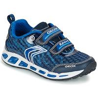 鞋子 男孩 球鞋基本款 Geox 健乐士 J SHUTTLE B.A 海蓝色