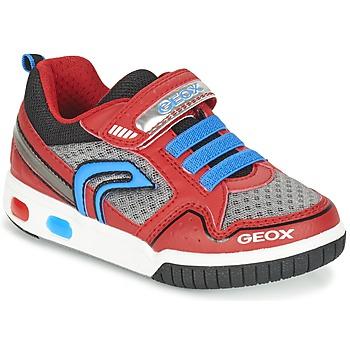 鞋子 男孩 球鞋基本款 Geox 健乐士 J GREGG B 红色 / 蓝色