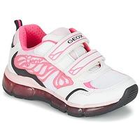 鞋子 女孩 球鞋基本款 Geox 健乐士 J ANDROID G. A 白色 / 玫瑰色