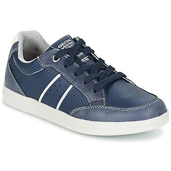 鞋子 男孩 球鞋基本款 Geox 健乐士 J ANTHOR B. B 海蓝色 / 白色