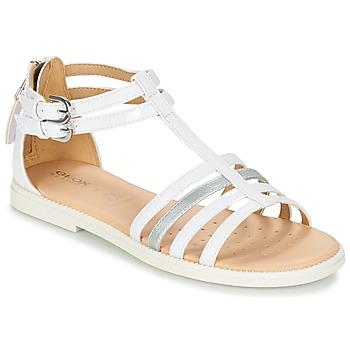 鞋子 女孩 凉鞋 Geox 健乐士 J S.KARLY G. D 白色
