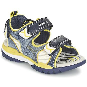 鞋子 男孩 运动凉鞋 Geox 健乐士 J BOREALIS B. D 海蓝色 / 柠檬色