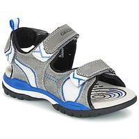 鞋子 男孩 运动凉鞋 Geox 健乐士 J BOREALIS B. D 灰色 / 蓝色