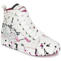 鞋子 女孩 高帮鞋 Geox 健乐士 J CIAK G. C 白色 / 玫瑰色