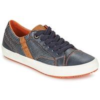 鞋子 男孩 球鞋基本款 Geox 健乐士 J ALONISSO B. A 海蓝色 / 棕色