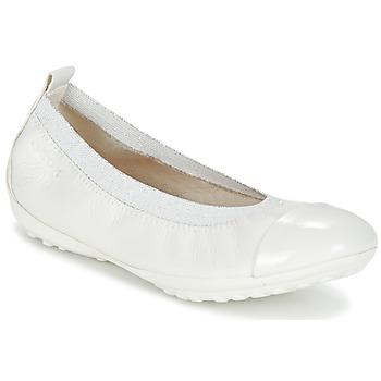 鞋子 女孩 平底鞋 Geox 健乐士 J PIUMA BALL B 白色