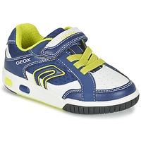 鞋子 男孩 球鞋基本款 Geox 健乐士 J GREGG A 蓝色 / 柠檬色