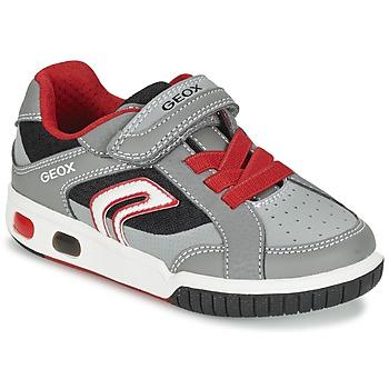 鞋子 男孩 球鞋基本款 Geox 健乐士 J GREGG A 灰色 / 红色