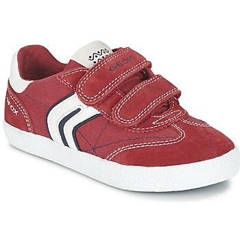 鞋子 男孩 球鞋基本款 Geox 健乐士 J KIWI B. M 红色 / 海蓝色
