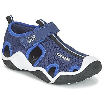 鞋子 男孩 运动凉鞋 Geox 健乐士 J WADER C 海蓝色