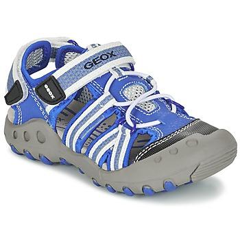 鞋子 男孩 运动凉鞋 Geox 健乐士 J SAND.KYLE C 蓝色 / 白色