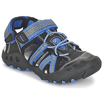 鞋子 男孩 运动凉鞋 Geox 健乐士 J SAND.KYLE C 黑色 / 蓝色