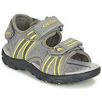 鞋子 男孩 运动凉鞋 Geox 健乐士 J S.STRADA A 灰色 / 绿色
