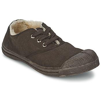 鞋子 儿童 球鞋基本款 Bensimon TENNIS FOURREES 巧克力色