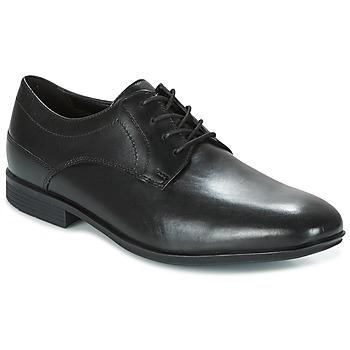 鞋子 男士 德比 Rockport 乐步 SC PLAIN TOE 黑色