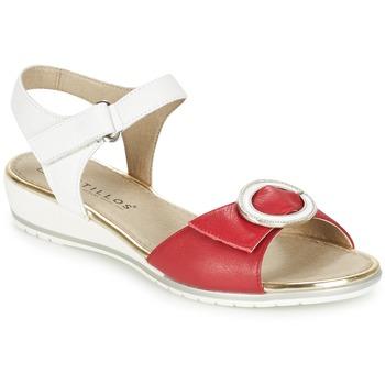 鞋子 女士 凉鞋 Pitillos MERVA 白色 / 红色