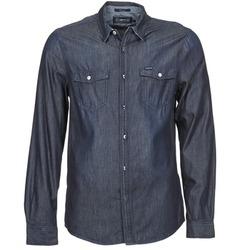 衣服 男士 長袖襯衫 Energie VETTEL 藍色