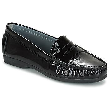 鞋子 女士 皮便鞋 Arcus DAME 黑色