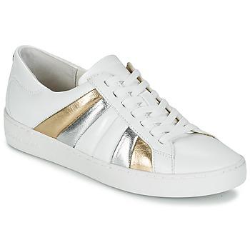 鞋子 女士 球鞋基本款 Michael by Michael Kors CONRAD SNEAKER 白色 / 金色 / 银色