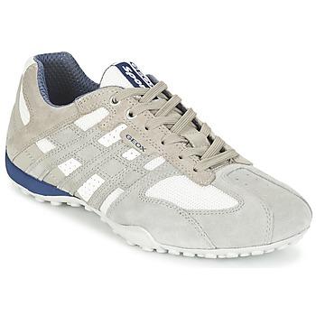 鞋子 男士 球鞋基本款 Geox 健乐士 SNAKE 灰色 / 白色