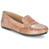 鞋子 女士 皮便鞋 Geox 健乐士 D LEELYAN B 米色