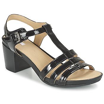 鞋子 女士 凉鞋 Geox 健乐士 D SYMI C 黑色