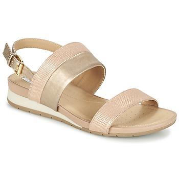 鞋子 女士 凉鞋 Geox 健乐士 D FORMOSA C 玫瑰色 / 金色