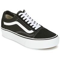 鞋子 女士 球鞋基本款 Vans 范斯 UA OLD SKOOL PLATFOR 黑色 / 白色