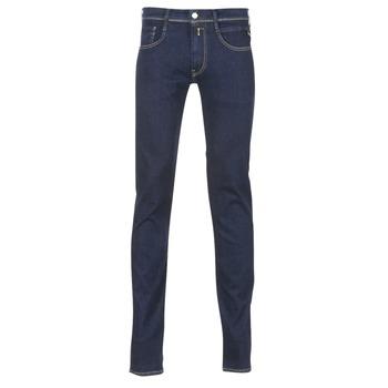 衣服 男士 緊身牛仔褲 Replay WOUAPO 藍色 / Brut