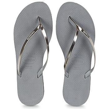 鞋子 女士 人字拖 Havaianas 哈瓦那 YOU METALLIC 灰色