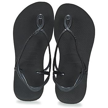 鞋子 女士 人字拖 Havaianas 哈瓦那 LUNA 黑色