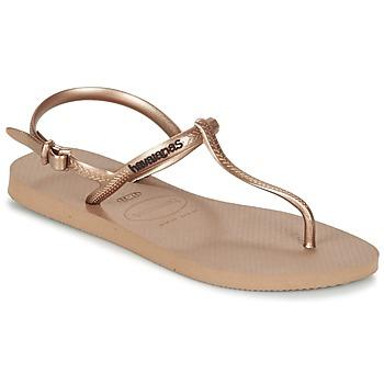 鞋子 女士 人字拖 Havaianas 哈瓦那 FREEDOM 玫瑰色 / 金色