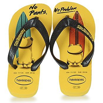 鞋子 儿童 人字拖 Havaianas 哈瓦那 KIDS MINIONS 黄色 / 黑色