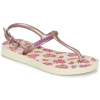 鞋子 女孩 人字拖 Havaianas 哈瓦那 KIDS FREEDOM PRINT 米色 / 玫瑰色