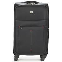 包 軟面行李箱 David Jones JAVESKA 76L 黑色