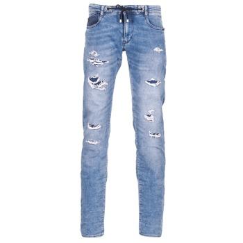 衣服 男士 紧身牛仔裤 Le Temps des Cerises 711 JOGG 蓝色 / 米色