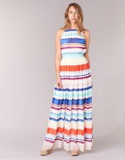 衣服 女士 长裙 Tommy Hilfiger AGATON 白色 / 蓝色 / 橙色