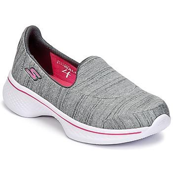 鞋子 女孩 平底鞋 Skechers 斯凯奇 GO WALK 4 灰色
