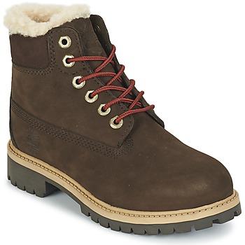 鞋子 儿童 短筒靴 Timberland 添柏岚 6 IN PRMWPSHEARLING 棕色