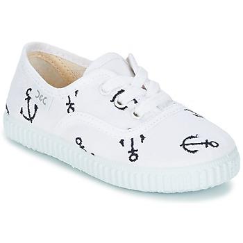 鞋子 儿童 球鞋基本款 Citrouille et Compagnie KIPPI BOU 白色 / 蓝色