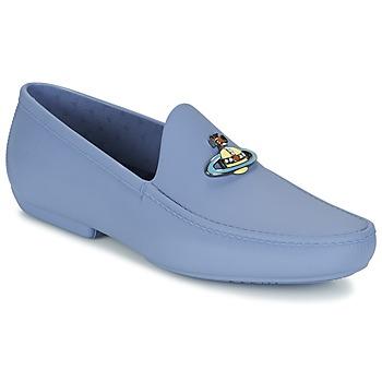 鞋子 男士 皮便鞋 Vivienne Westwood ENAMELLED ORB MOC 蓝色