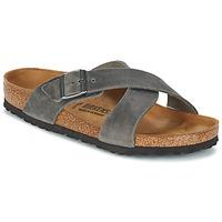 鞋子 男士 休闲凉拖/沙滩鞋 Birkenstock 勃肯 TUNIS 灰色