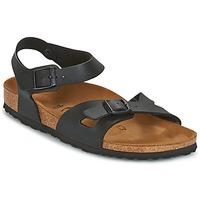 鞋子 女士 凉鞋 Birkenstock 勃肯 RIO 黑色