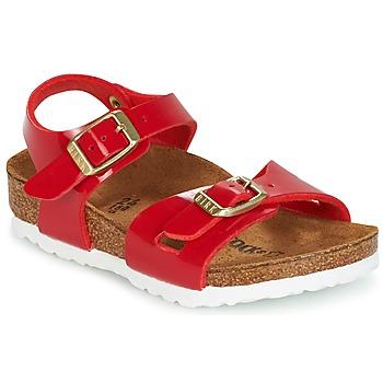 鞋子 儿童 凉鞋 Birkenstock 勃肯 RIO 红色