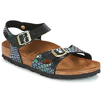 鞋子 儿童 凉鞋 Birkenstock 勃肯 RIO 黑色 / 明亮 / 蛇纹