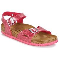 鞋子 儿童 凉鞋 Birkenstock 勃肯 RIO 玫瑰色 / 浅黄色