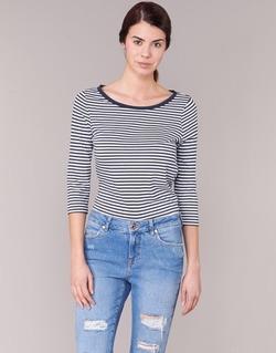 衣服 女士 长袖T恤 Vero Moda MARLEY 海蓝色 / 白色