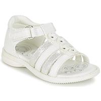 鞋子 女孩 凉鞋 Chicco CAROTA 白色 / 银灰色