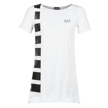 衣服 女士 长衬衫 EA7 EMPORIO ARMANI TRAIN MASTER 白色 / 黑色